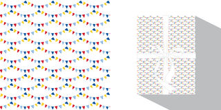 Seamless holiday flags pattern. Stock Image