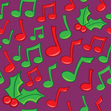 Seamless Holiday Music Pattern Royalty Free Stock Photos