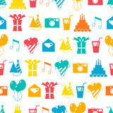 Seamless holiday pattern, festive background. For design Royalty Free Stock Photos