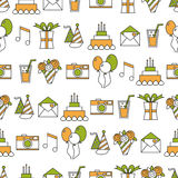 Seamless holiday pattern, happy birthday, festive background Stock Photography