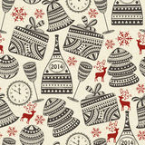 Seamless Holiday Pattern Royalty Free Stock Photos