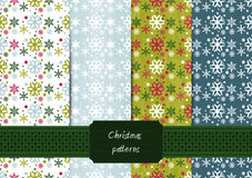 Seamless holiday patterns Royalty Free Stock Images