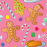 Seamless Holiday Sweets Royalty Free Stock Image