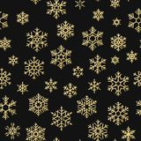 Seamless holiday texture, Christmas pattern with gold snowflakes decoration for textiles, brochure, card. EPS 10 royalty free illustration