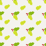 Seamless holly berry. Pattern background design Stock Images