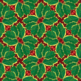 Seamless Holly Wallpaper Pattern. Seamless Wallpaper Tile - This pattern repeats on all sides. You can use it to fill your own custom shapes and backgrounds Royalty Free Stock Photo
