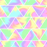 Seamless holographic pattern. Modern trendy design Stock Photos