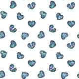 Seamless Shining Holographic Stickers Pattern. Seamless Holographic Shining Stickers Pattern. Broken Hearts Stock Images