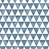 Seamless Shining Holographic Stickers Pattern. Seamless Holographic Shining Stickers Pattern. Geometric triangles Stock Image