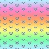 Seamless Shining Holographic Stickers Pattern. Seamless Holographic Shining Stickers Pattern. Rainbow chevron Stock Photos