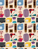 Seamless home appliance pattern Stock Images