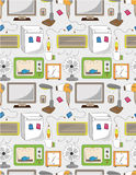 Seamless Home Appliance Pattern Royalty Free Stock Photos