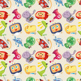 Seamless Home Appliances pattern Stock Image
