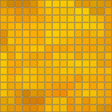 Seamless honey gold square mosaic with borders and white background Royalty Free Stock Images