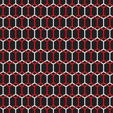 Seamless honeycomb layer vector pattern. Abstract geometric background. Seamless honeycomb layer vector pattern wallpaper. Abstract geometric background royalty free illustration