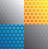 Seamless honeycomb pattern set. Vector. Stock Photo