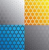 Seamless honeycomb pattern set. Vector. Vector illustration set depicting abstract honeycomb pattern Stock Photo