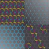 Seamless honeycomb pattern set. Vector. Vector illustration set depicting abstract honeycomb pattern Royalty Free Stock Photo