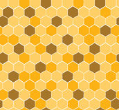 Seamless Honeycomb Pattern with yellow and gold honey Stock Photo