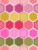 Seamless honeycomb textured pattern vector illustration