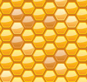 Seamless honeycomb for your design. Seamless honeycomb pattern, vector illustration, eps10, 3 layers Stock Photos