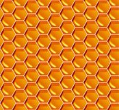 seamless honungmodell Gul honungskakabakgrund för vektor Royaltyfria Bilder