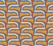Seamless Hook Shapes. Seamless hook shape background pattern with small dots Royalty Free Stock Images