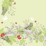 Seamless horisontal floral pastel pattern Royalty Free Stock Image