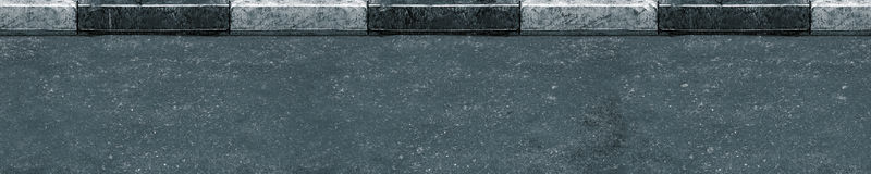 Seamless (only horizontal) asphalt Royalty Free Stock Photo