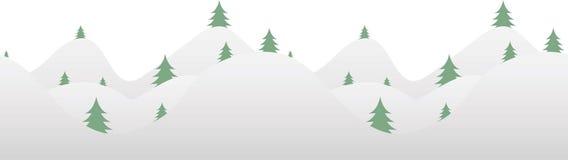 Seamless horizontal background with fur-tree Stock Photos