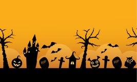 Seamless horizontal background halloween Royalty Free Stock Photo