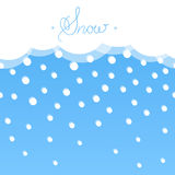 Seamless horizontal background with snow. Flat style. Stock Photography