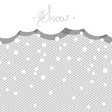 Seamless horizontal background with stylized snow. Royalty Free Stock Photo