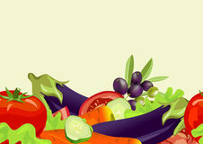 Seamless horizontal background of vegetables Royalty Free Stock Photos