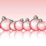 Seamless horizontal border of Christmas balls. Royalty Free Stock Photos