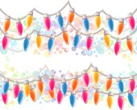 Seamless horizontal Christmas border. Royalty Free Stock Images