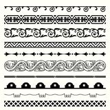 Seamless horizontal elements set 15. Available in high-resolution and several sizes to fit the needs of your project Royalty Free Illustration