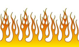 Fire Flame Illustration. Seamless Horizontal Fire Flame Illustration clip art vector Stock Photography