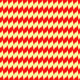 Seamless horizontal jagged striped pattern. Repeated red angular lines on yellow background. Zigzag motif. Wavy vector Stock Image