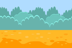 Seamless Horizontal Landscape for a Game, Bushes Stock Images