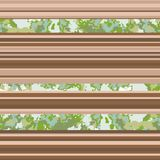 Seamless horizontal lines pattern. Vector brown background stock illustration