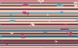 Seamless horizontal lines pattern. Vector background royalty free illustration