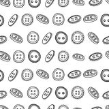 Seamless horizontal monochrome pattern with a Royalty Free Stock Photos