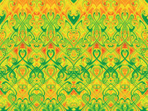 Seamless horizontal pattern. Seamless horizontal pattern of repeating colored tracery Royalty Free Stock Photos
