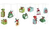 Seamless horizontal  pattern brush with  Christmas Stock Image