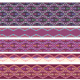 Seamless horizontal pattern with decorative elements. Vector set . Stock Photos