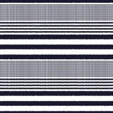 Seamless horizontal stripes fabric pattern Royalty Free Stock Photo