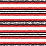 Seamless horizontal stripes pattern. Seamless scribble effect horizontal stripes pattern Stock Illustration