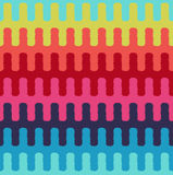 Seamless horizontal wavy stripes textile pattern Stock Images