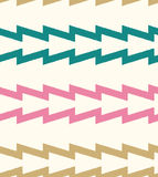Seamless horizontal zigzag stripes pattern Stock Images